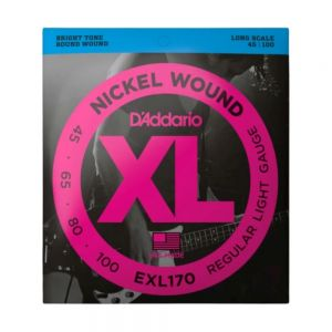 Encordoamento D'Addario Contrabaixo EXL170 Long Scale 45-100