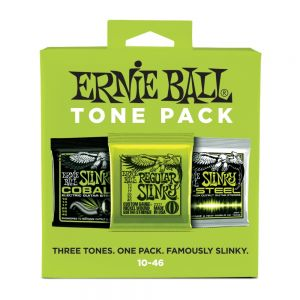 Encordoamento Ernie Ball Guitar 010-046 Regular Slinky - Kit com 3